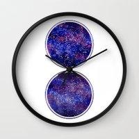 maps Wall Clocks featuring Star Maps by Stevyn Llewellyn