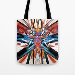 Mirror Image Abstract Tote Bag