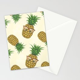 Pineapples with Sunglasses Hand Painted Stationery Cards