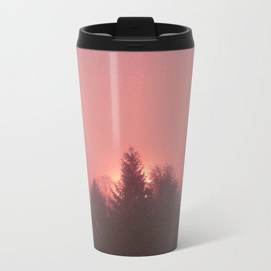 Sunrise on a foggy morning Metal Travel Mug
