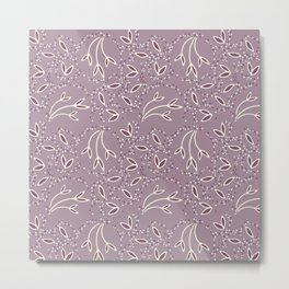 Decorative Pattern in Lavender and Purple Metal Print