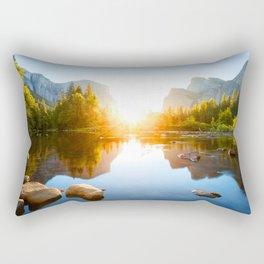 Middle of Nature Rectangular Pillow