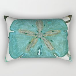 Sand Dollars Ocean Colors Rectangular Pillow