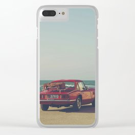 Red Supercar, classic car, triumph, spitfire, color photo, interior design, old car, auto Clear iPhone Case