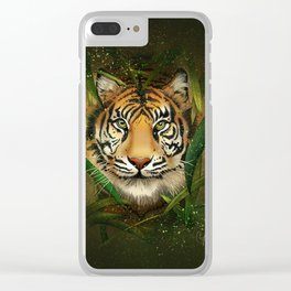 Tiger and Bamboo Clear iPhone Case