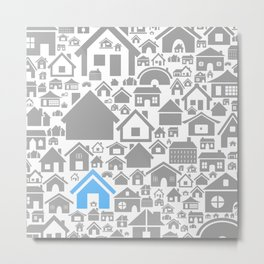 House a background Metal Print