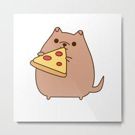 Pupsheen Eating Pizza Metal Print