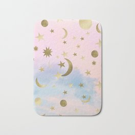 Pastel Starry Sky Moon Dream #1 #decor #art #society6 Bath Mat