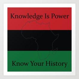RBG/Pan-African Knowledge Is Power Art Print