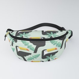 Abstract Pattern with Toucan bird texture Fanny Pack