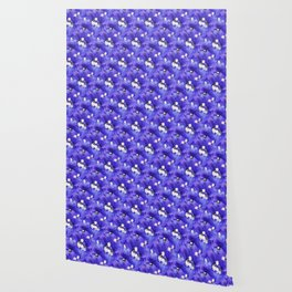 A Pattern of Intense Purple-Blue Delphinium Flowers Wallpaper