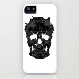 Sketchy Cat skull iPhone Case