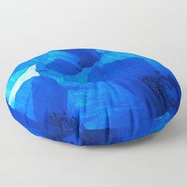 Blue Poppies #decor #society6 #buyart Floor Pillow