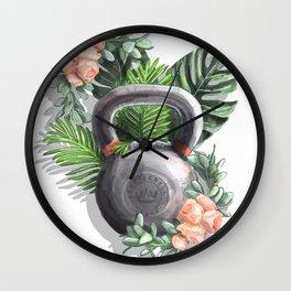 Kettlebell Queen Wall Clock