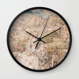 Albrecht Durer - Mary Among A Multitude Of Animals 1503 Wall Clock