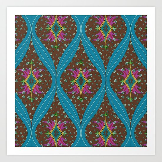 teardrop pattern Art Print