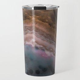 Multi colored agate slice Travel Mug
