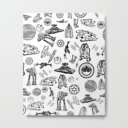 pattern, darth and company Metal Print