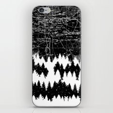 Map Silhouette Square iPhone & iPod Skin