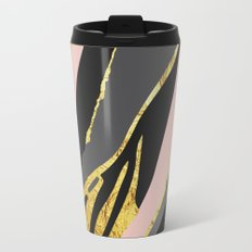 Gold and pale river Metal Travel Mug