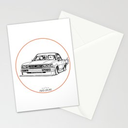 Crazy Car Art 0209 Stationery Cards
