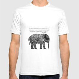 Buddha Quote with Henna Elephant T-shirt
