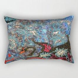 Obsidian night Rectangular Pillow