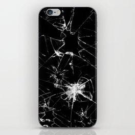 Shatterd+black iPhone Skin