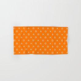 Orange Gamer Pattern Hand & Bath Towel