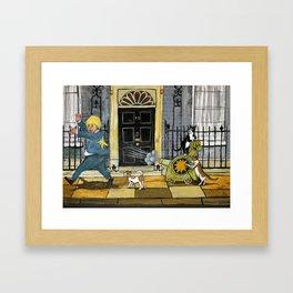 Cats Go Bananas Framed Art Print