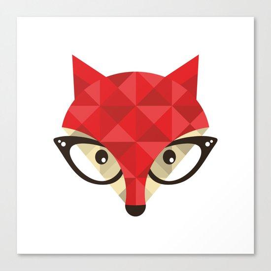 Smart Fox Canvas Print