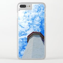 North Cape Lighthouse and Communication Tower Clear iPhone Case