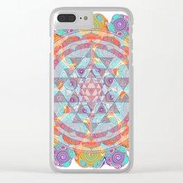 Serendipity Sri yantra Clear iPhone Case