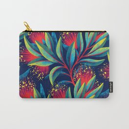 Pohutukawa - Red / Green Carry-All Pouch