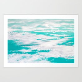 The sky reflected the sea on their upside down world Art Print