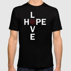 Hope and Love intersect MEDIUM Black Mens Fitted Tee