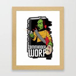 ZOMBIE WORF Framed Art Print