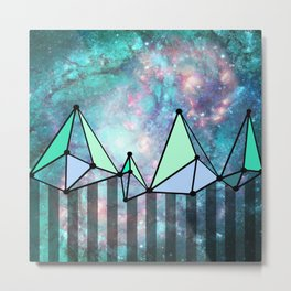Intergalactic mountains (collab) Metal Print