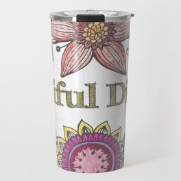 Floral Beautiful Disaster Travel Mug
