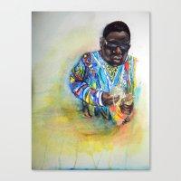biggie smalls Canvas Prints featuring Biggie Smalls  by Caitlyn Carter