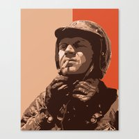 steve mcqueen Canvas Prints featuring S McQueen by Rich Lee