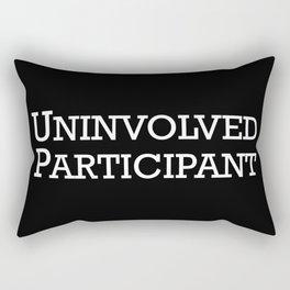 Uninvolved Participant Rectangular Pillow