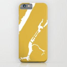 Manhattan New York Minimalist Abstract in Light Mustard and White  iPhone Case