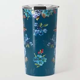 Cornflower Blues in Watercolor Travel Mug
