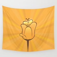 tulip Wall Tapestries featuring Tulip by Slugbunny