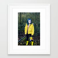 coraline Framed Art Prints featuring Coraline by Kelly Is Nice