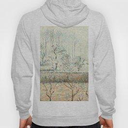 """Camille Pissarro """"Paysage avec Maisons et Mur de Cloture, Givre et Brume, Éragny"""" Hoody"""