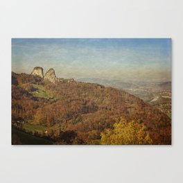 Twin rocks Canvas Print