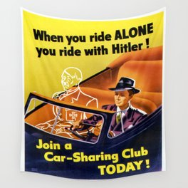 Vintage poster - Car-Sharing Club Wall Tapestry