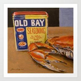 Meg's Old Bay Art Print